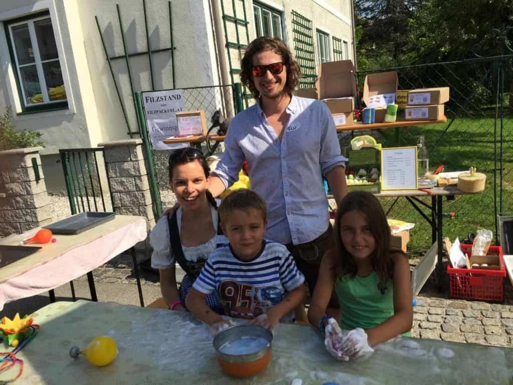 Kinderfilzen am Dorffest