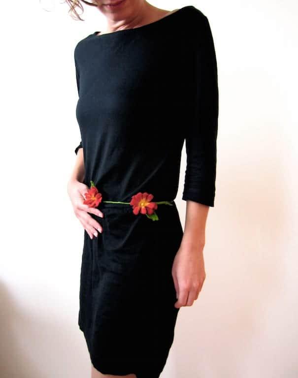 Blumenkette aus Filz