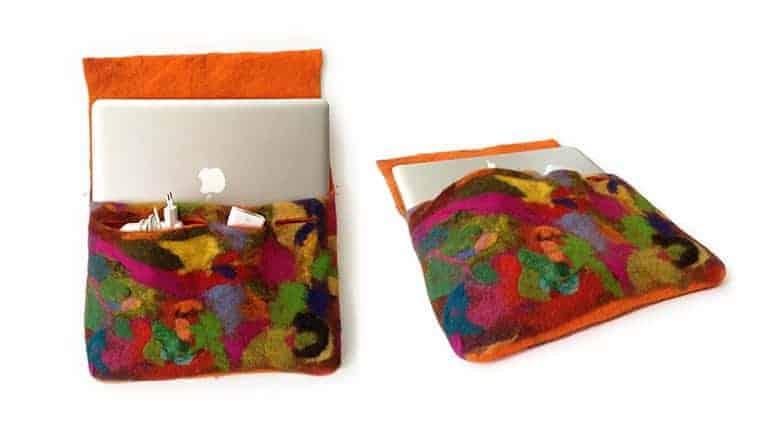 Filzanleitung für eine Laptoptasche aus Schafwolle