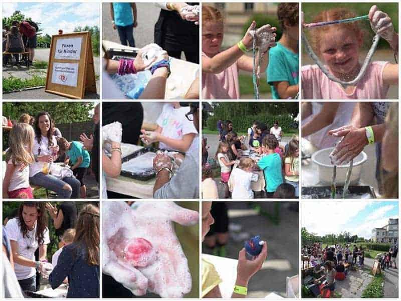 Filzpackerl beim Sommerfest